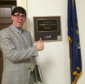 Zachary Baker visits Sandra Levin