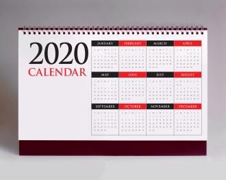 Simple desk calendar 2020